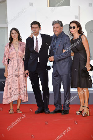Maria Castellitto, Pietro Castellitto, Sergio Castellitto and Margaret Mazzantini