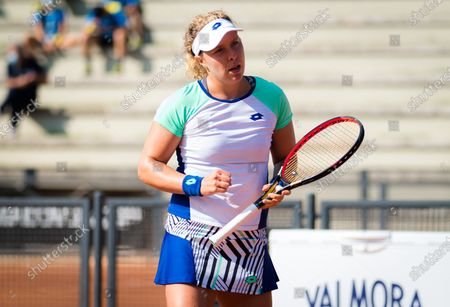 Anna-Lena Friedsam of Germany in action during the first qualifications round at the 2020 Internazionali BNL d'Italia WTA Premier 5 tennis tournament