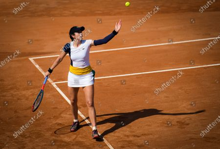 Stock Image of Christina McHale of the United States in action during the first qualifications round at the 2020 Internazionali BNL d'Italia WTA Premier 5 tennis tournament