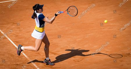 Christina McHale of the United States in action during the first qualifications round at the 2020 Internazionali BNL d'Italia WTA Premier 5 tennis tournament
