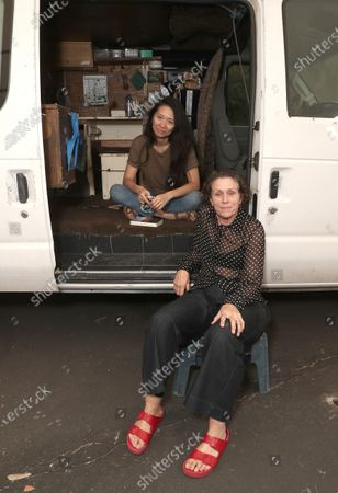 Stock Photo of Director Chloe Zhao and Frances McDormand
