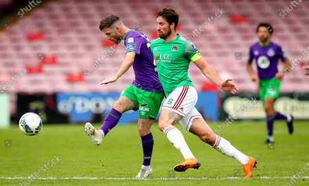 Stock Picture of Cork City vs Shamrock Rovers. Cork's Gearóid Morrissey and Jack Byrne of Rovers
