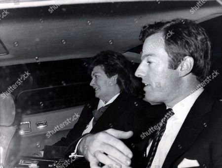 Stock Image of Mark Thatcher - Son Of Margaret Thatcher - 1986 Mark Thatcher Leaves No 10 Downign Street. Mark Thatcher Held Hands Throughout Lunch At Hte Savoy With Is Beautiful Texan Girl Friend. The Prime Minister Is Expected To Confirm Within 48 Hours That Her Son Is To Marry 25 Year Old Diane Bergdorf Form Dallas. A New Year Wedding In The United States Is Expected With Possibilty Ronald Reagan At The Top Of The Guest List. Picture Desk ** Pkt4863 - 362083