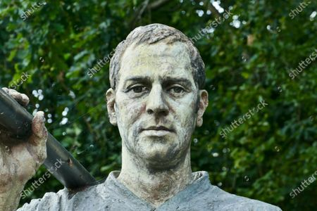 Stock Picture of The statues of Sir Steve Redgrave and Matthew Pinsent at the museum