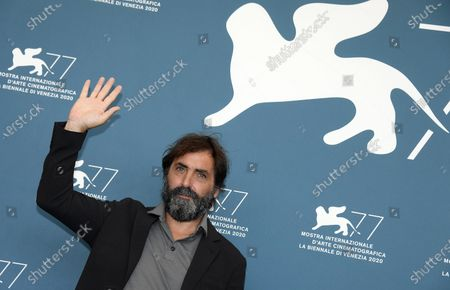 Stefano Mordini poses at a photocall for 'Lasciami andare (You came back)' during the 77th annual Venice International Film Festival, in Venice, Italy, 12 September 2020. The movie is presented out of competition at the festival running from 02 September to 12 September.