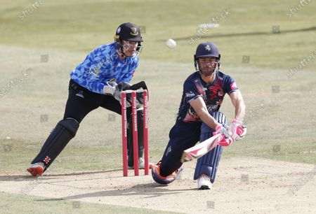 Heino Kuhn bats for Kent during Kent Spitfires vs Sussex Sharks, Vitality Blast T20 Cricket at The Spitfire Ground on 12th September 2020