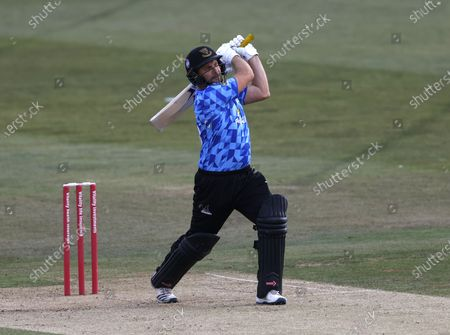 Luke Wright hits out for Sussex during Kent Spitfires vs Sussex Sharks, Vitality Blast T20 Cricket at The Spitfire Ground on 12th September 2020
