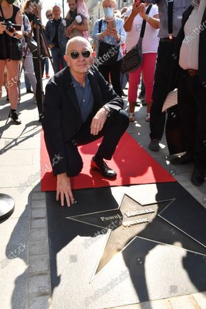 Polish cinematographer Pawel Edelman attends the unveiling of his star on the Walk of Fame on Piotrkowska Street in Lodz, Poland, 12 September 2020. Pawel Edelman is known for his collaborations with compatriot directors Roman Polanski and Andrzej Wajda. He was named Best European Cinematographer in 2002 at the European Film Awards for his work on the film 'The Pianist', for which he also won the Cesar Award for Best Cinematography.