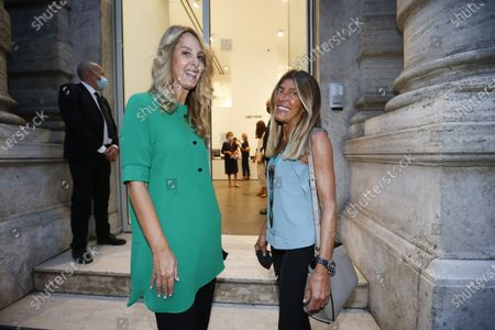 Stock Picture of Mariarosa Torello Fedi with Giovanna Caruso Fendi
