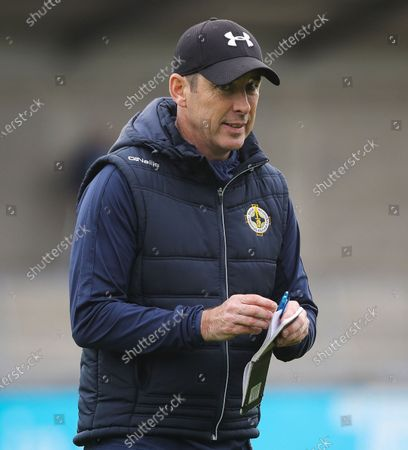 Ballyboden St. Enda's vs St. Jude's. Ballyboden's manager Anthony Rainbow
