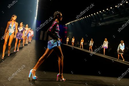 Custo Barcelona's show during the MBFW Madrid
