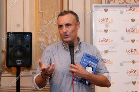 "The actor Massimo Lopez presents his book ""Stai Attento alle Nuvole"" written by Sante Roperto in Caserta."