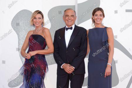 Stock Picture of Anna Foglietta, Alberto Barbera and Julia Barbera