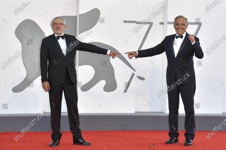 Roberto Cicutto and Alberto Barbera