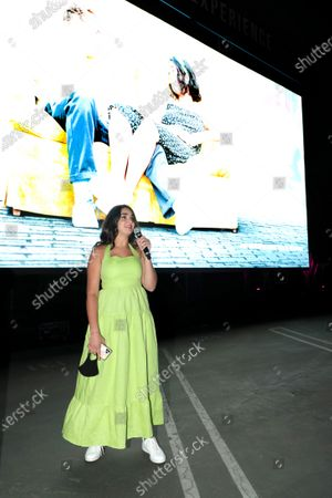 Stock Picture of Culver City, CA - September 12, 2020 - Geraldine Viswanathan seen at The Broken Hearts Gallery screening at the Sony Pictures drive-in on the historic Sony Pictures lot.