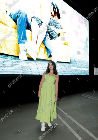 Culver City, CA - September 12, 2020 - Geraldine Viswanathan seen at The Broken Hearts Gallery screening at the Sony Pictures drive-in on the historic Sony Pictures lot.