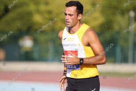 Javier Munoz Isla competes in semifinals of 400 meters during the 100th Spanish Athletics Championship at Juan de la Cierva Municipal Sports Center on September 12, 2020 in Getafe, Madrid, Spain.
