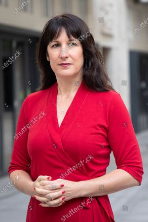 Shadow Chancellor of the Duchy of Lancaster Rachel Reeves speaks to the media outside the BBC after appearing on the Andrew Marr Show.