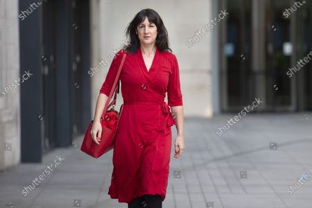 Shadow Chancellor of the Duchy of Lancaster Rachel Reeves departs the BBC after appearing on the Andrew Marr Show.