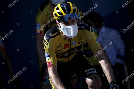 Dutch rider Tom Dumoulin of Jumbo-Visma  before the start of the 15th stage of the Tour de France over 174.5km from Lyon to Grand Colombier, France, 13 September 2020.