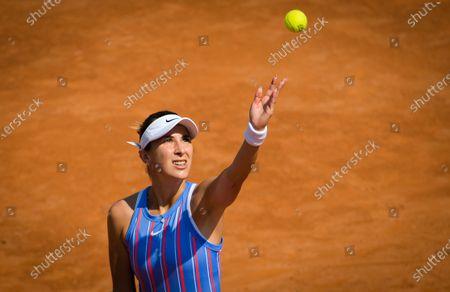 Belinda Bencic of Switzerland during practice at the 2020 Internazionali BNL d'Italia WTA Premier 5 tennis tournament