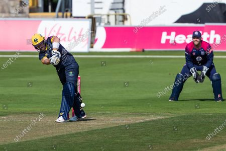 Glamorgan's David Lloyd in action during todays match during the Vitality T20 Blast South Group match between Glamorgan County Cricket Club and Northamptonshire County Cricket Club at the SWALEC Stadium, Cardiff