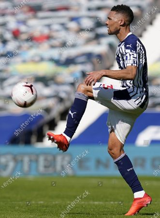Kieran Gibbs of West Bromwich in action during the English Premier League soccer match between West Bromwich Albion and Leicester City in West Bromwich, Britain, 13 September 2020.