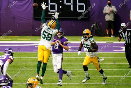 Editorial picture of Packers Vikings Football, Minneapolis, United States - 13 Sep 2020