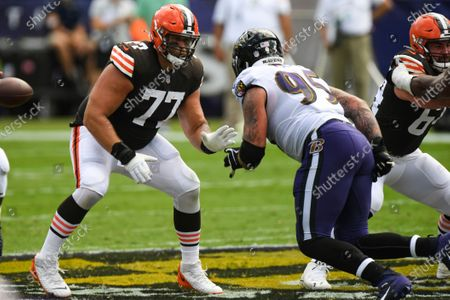 Editorial photo of Browns Ravens Football, Baltimore, United States - 13 Sep 2020