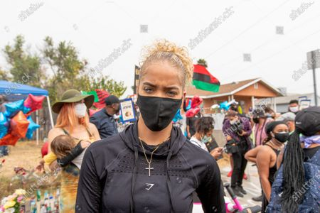 Editorial image of Dijon Kizzee protest, Los Angeles, USA - 12 Sep 2020