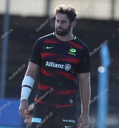 Editorial picture of Saracens v Exeter Chiefs, Rugby Union, Gallagher Premiership, Allianz Park, Hendon, London, UK - 13/09/2020