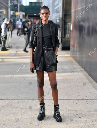Editorial picture of Jason Wu Spring Summer 2021, Street Style, New York Fashion Week, USA - 13 Sep 2020