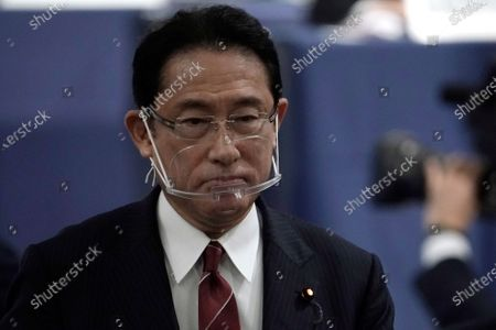 Japan's Foreign Minister Fumio Kishida walks away after casting his ballot during the Liberal Democratic Party's (LDP) leadership election in Tokyo, Japan, 14 September 2020.