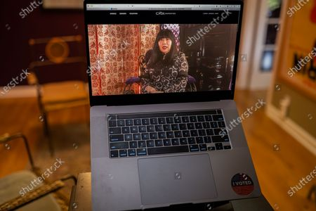 "Anna Sui photo illustration viewed on a laptop during the ""Black is the New Black"" Style Awards and Fashion Show"