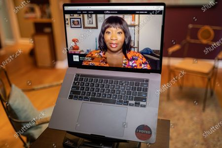 """Bevy Smith photo illustration viewed on a laptop during the """"Black is the New Black"""" Style Awards and Fashion Show"""