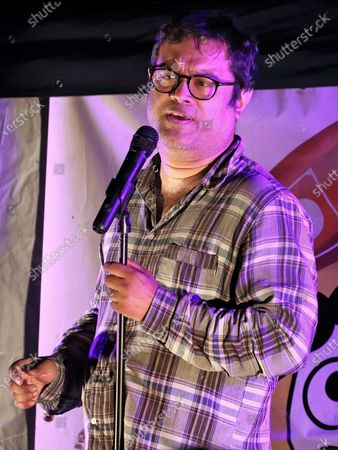 Editorial image of The Sinnerman aka Paul Sinha live stand up comedy, Flitwick, UK - 12 Sep 2020