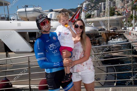 Gareth Wittstock, wife Roisin Gavin and daugther Kaia Rose