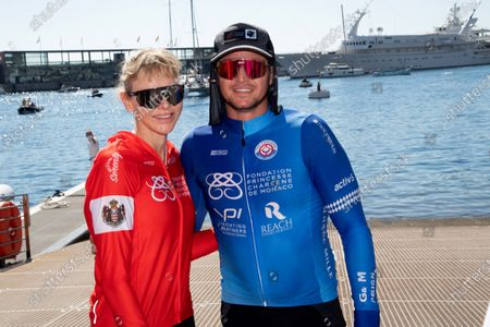 Gareth Wittstock with Princess Charlene