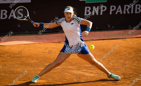 Anna Blinkova of Russia in action during the first round at the 2020 Internazionali BNL d'Italia WTA Premier 5 tennis tournament