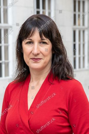 Stock Image of MP Rachel Reeves seen during the interview outside the BBC before appearing on the Andrew Marr Show at Broadcasting House.