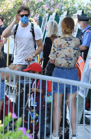 James Norton and Imogen Poots departure from the Lido of Venice