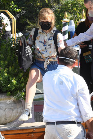 Imogen Poots departure from the Lido of Venice