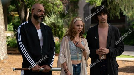 Lobo Sebastian as Bodyguard, AnnaSophia Robb as Rebecca and Devon Bostick as Joaquin