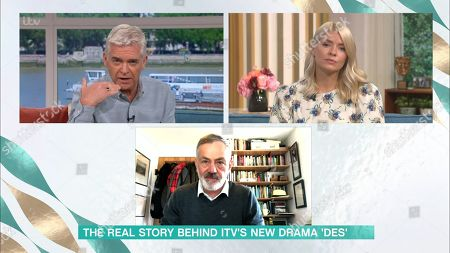 Stock Photo of Phillip Schofield, Holly Willoughby and Prof. David Wilson