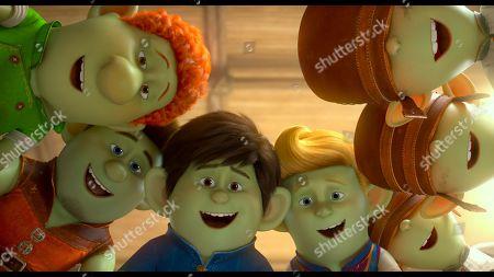 Hans (Nolan North), Jack (Frederik Hamel), Merlin (Sam Claflin) and Arthur (Simon Kassianides)