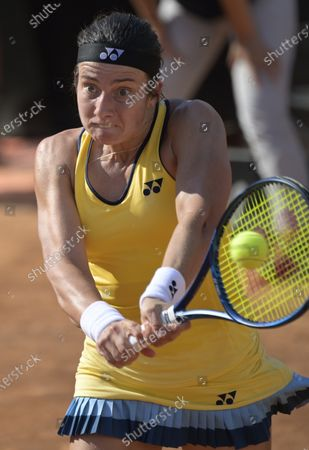 Anastasija Sevastova of Latvia in action during her Women's Singles first round match against Jasmine Paolini of Italy at the Italian Open tennis tournament in Rome, Italy, 14 September 2020.