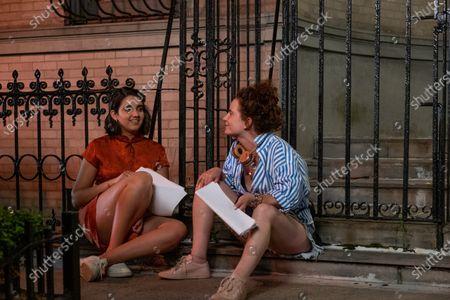 Geraldine Viswanathan as Lucy Gulliver and Natalie Krinsky Director