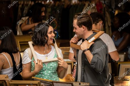 Geraldine Viswanathan as Lucy Gulliver and Dacre Montgomery as Nick