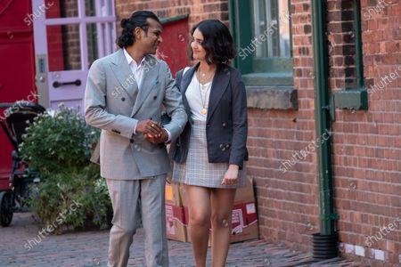 Utkarsh Ambudkar as Max Vora and Geraldine Viswanathan as Lucy Gulliver