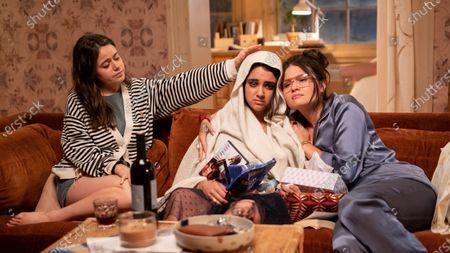 Stock Image of Molly Gordon as Amanda, Geraldine Viswanathan as Lucy Gulliver and Phillipa Soo as Nadine